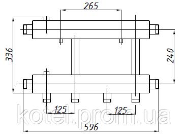Размер коллектора СК 262.125