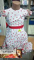 Детское платье Польша нежное летнее на праздник  98,104, 110, 116
