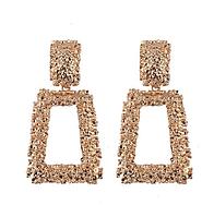 Сережки Turkish Jewels великі вінтаж під золото в стилі Celine, фото 1