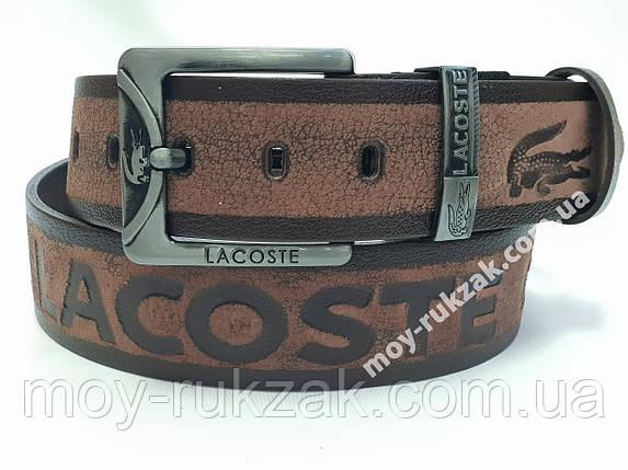 Ремень мужской кожаный Lacoste 45 мм., реплика арт.930682, фото 2