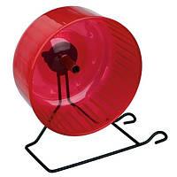 Trixie колесо пластиковое на металлической подставке для грызунов, 16см