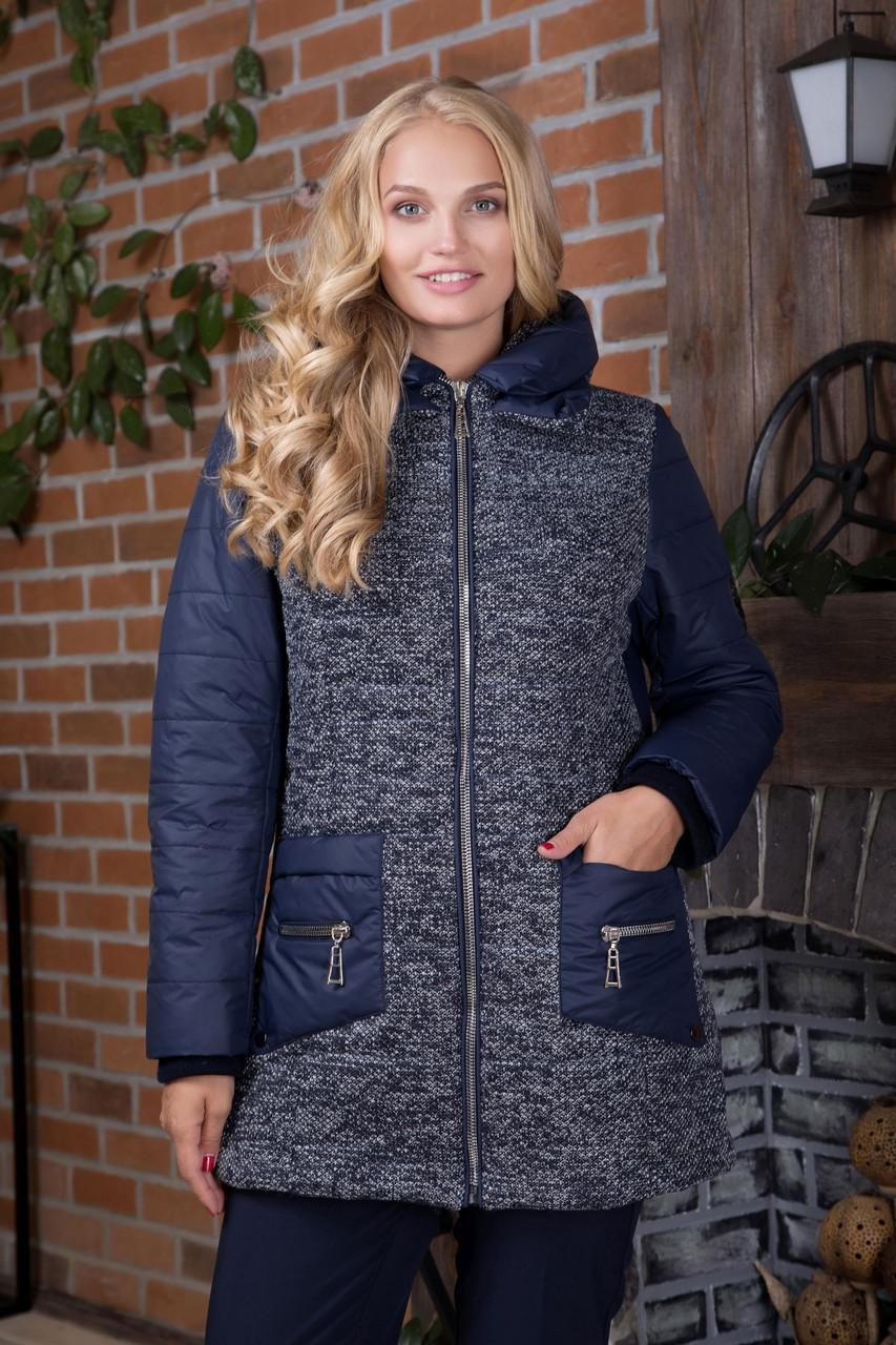 5d14e35847a Куртка женская демисезонная удлиненная Букле 1 в размерах 48-56 ...