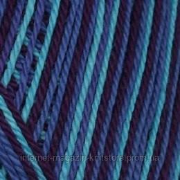 Пряжа Сеам Анна-S Print Темно-синій меланж