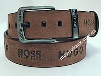 Ремень мужской кожаный Hugo Boss 45 мм., реплика, арт. 930677