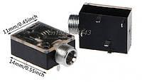Аудио разъем, гнездо, мама Jack 3.5 мм. AUX вход врезной 5-ти контактный