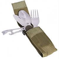 Столовый набор (ложка.вилка.нож,чехол) Mil-Tec -  (14629000)
