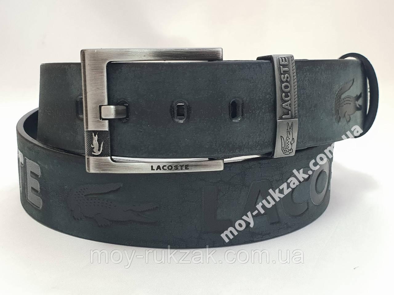 Ремень мужской кожаный Lacoste 45 мм., реплика, арт. 930672