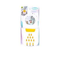 Корзинка с мочалкой для мытья посуды на кран, силикон, белый