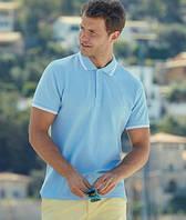 Мужская рубашка поло с полосками