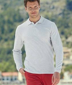 Мужская рубашка поло с длинным рукавом