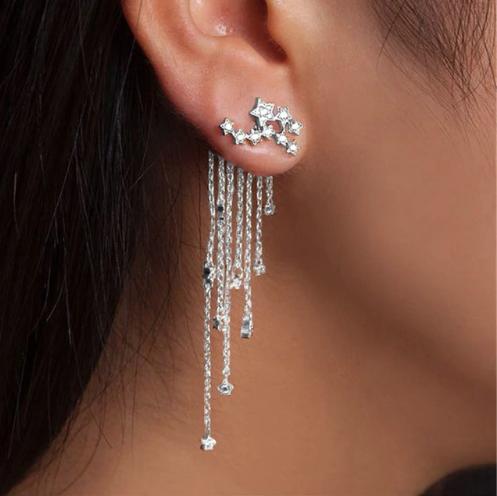 Сережки джекеты Turkish Jewels з зірками