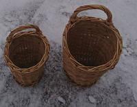 Набір маленьких плетених кошиків, фото 1