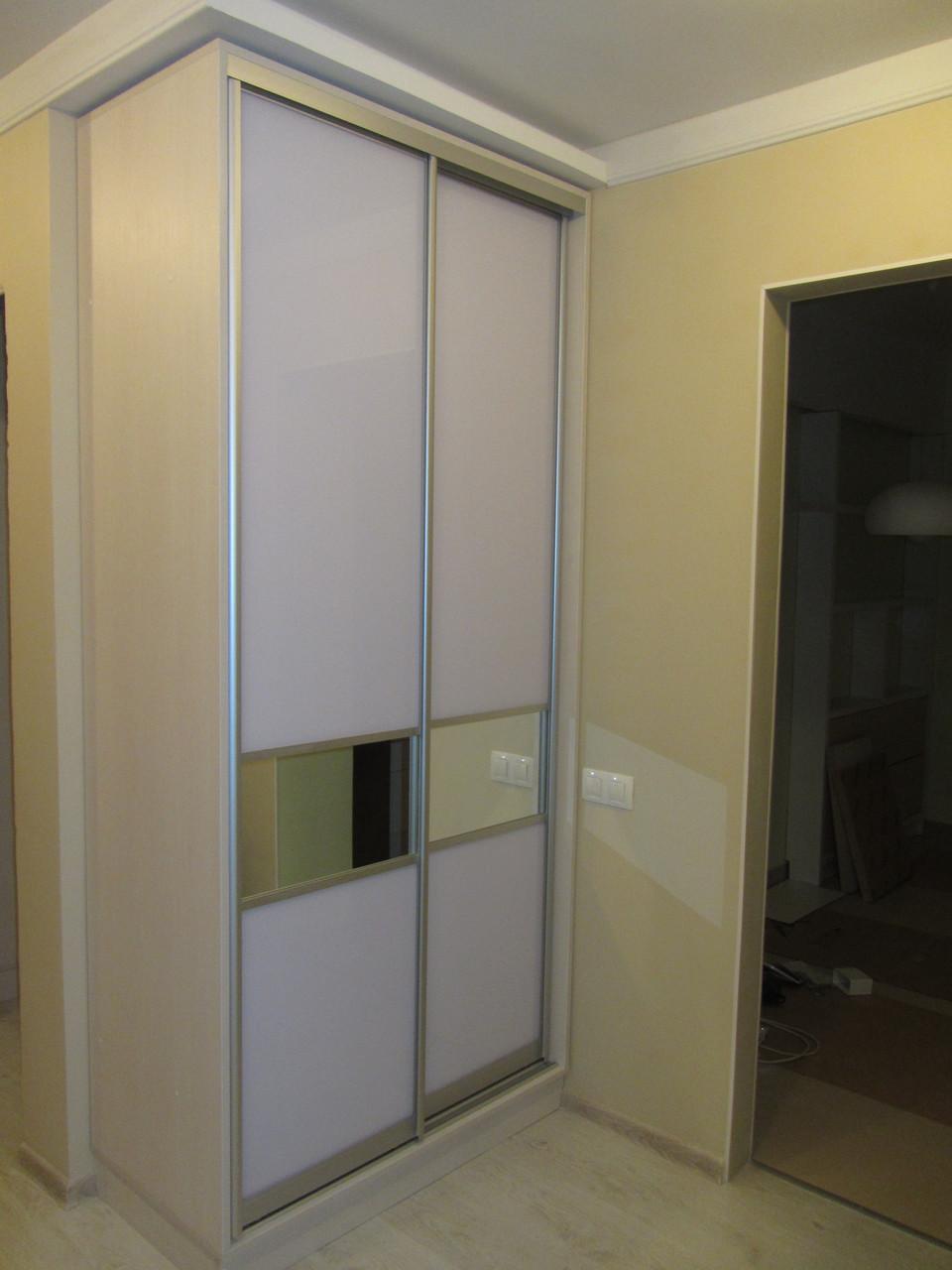 Шкаф купе на заказ корпус белый. Фасад фотопечать.  Z-214