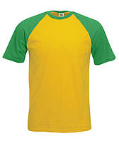 Футболка short sleeve baseball T. Цвет желто-зеленый