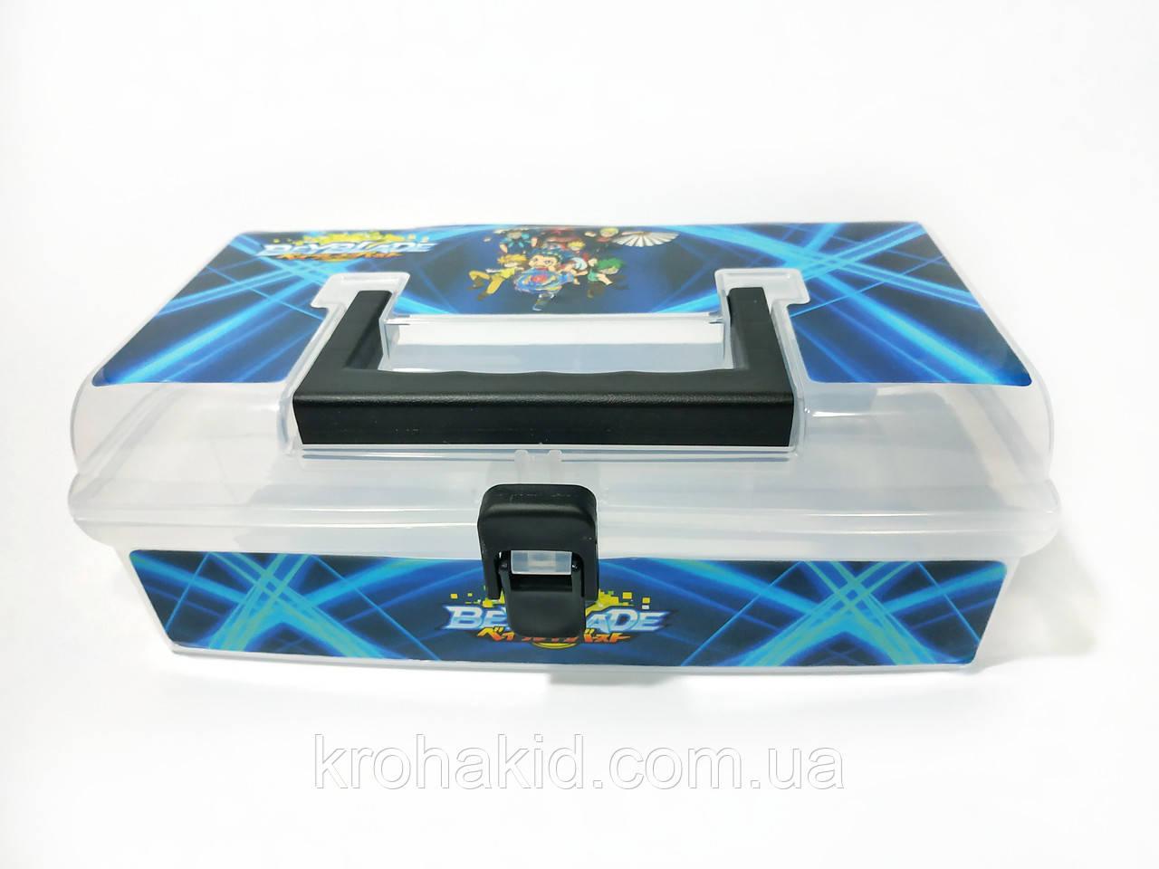 Кейс для BeyBlade / чемодан для волчков бейблейд (прозрачный)