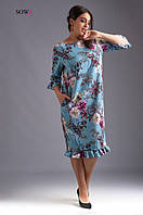 Платье женское батал   Коламбия, фото 1