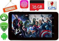 "Планшет 7"" дюймов - 6дра+1Gb RAM+16Gb ROM+2Sim+Bluetooth+GPS+Android 3G 4G  андроид Samsung"