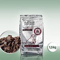 Сухой полнорационный корм для взрослых собак Platinum Ягненок с рисом 1,5 кг