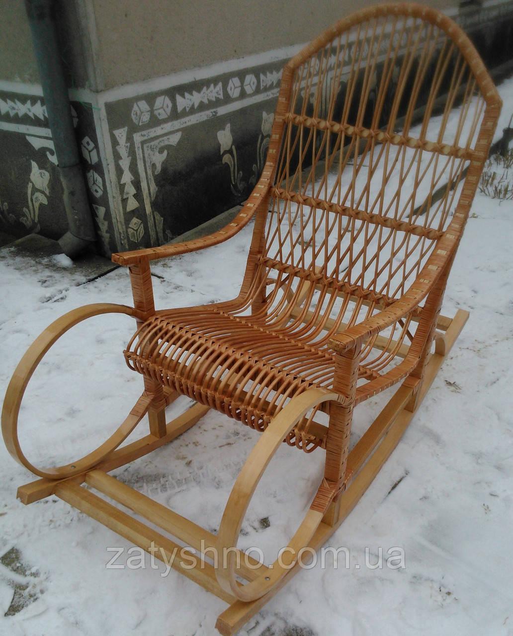Кресло качалка плетёная