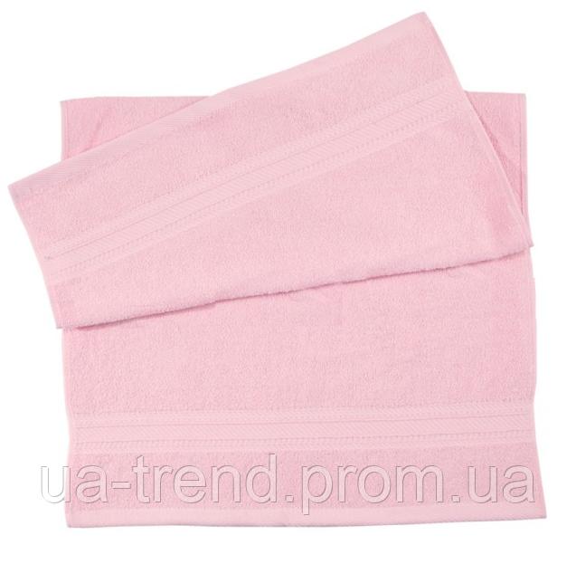 Полотенца махровые 40х70 розового цвета