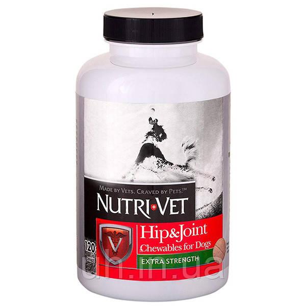 Nutri-Vet Hip&Joint Extra Нутри-Вет Связки И Суставы Экстра 2 уровень для собак с МС 120 шт