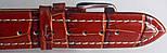 Ремешок кожаный BROS (ИТАЛИЯ) коричневый рель бел.строчка 20 мм, фото 3
