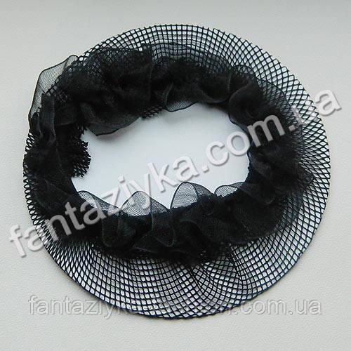 Сеточка для волос черная, для гульки
