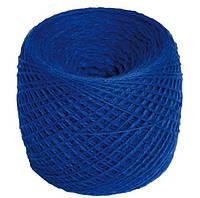 Нитки для вязания 100% шерсть мериноса 100г синего цвета