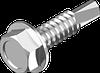 Винт TEX-H самосверлящий, шестигранная головка DIN 7504 K