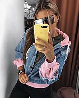Женская джинсовая куртка с капюшоном