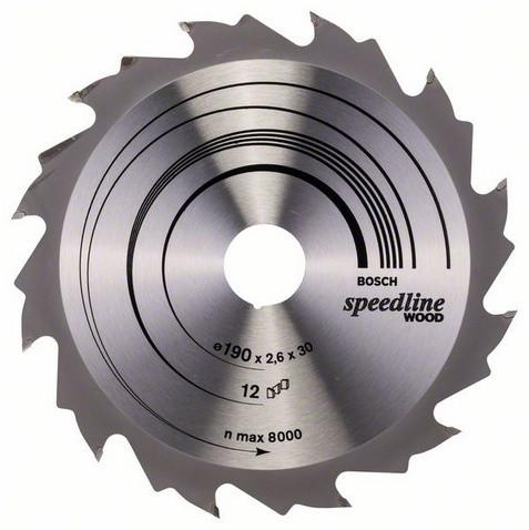 Розпилювальний диск 190х30 Speedline Wood BOSCH