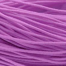 Шнур Эластичное Волокно, с покрытием из Нейлона, Цвет: Розовый, Толщина 1мм, около 27м/катушка, (УТ0012811)
