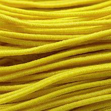 Шнур Эластичное Волокно, с покрытием из Нейлона, Цвет: Желтый, Толщина 1мм, около 27м/связка, (УТ0012801)