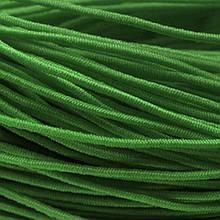Шнур Эластичное Волокно, с покрытием из Нейлона, Цвет: Зеленый, Толщина 1мм, около 27м/катушка, (УТ0012800)