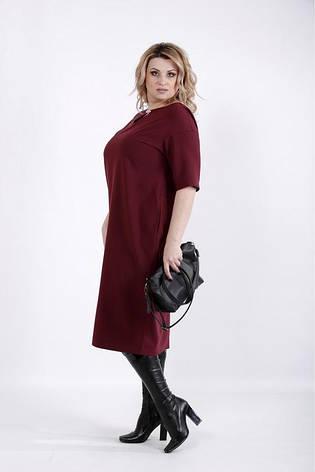 Платье свободное простое повседневное размеры: 42-74, фото 2