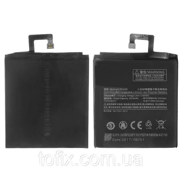 Аккумулятор (АКБ, батарея) BN20 для Xiaomi Mi5C, Li-ion, 3,85 B, 2860 мАч, оригинал