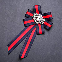 Брошь-галстук из лент под воротничок L-20см