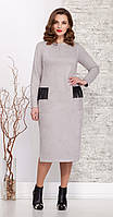 Платье Ивелта плюс-1621 белорусский трикотаж, светло-серый, 50