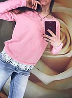 Кофта женская Весна (42/46 универсал) (цвет розовый) СП