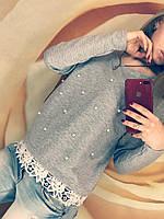 Кофта женская Весна (42/46 универсал) (цвет серый) СП