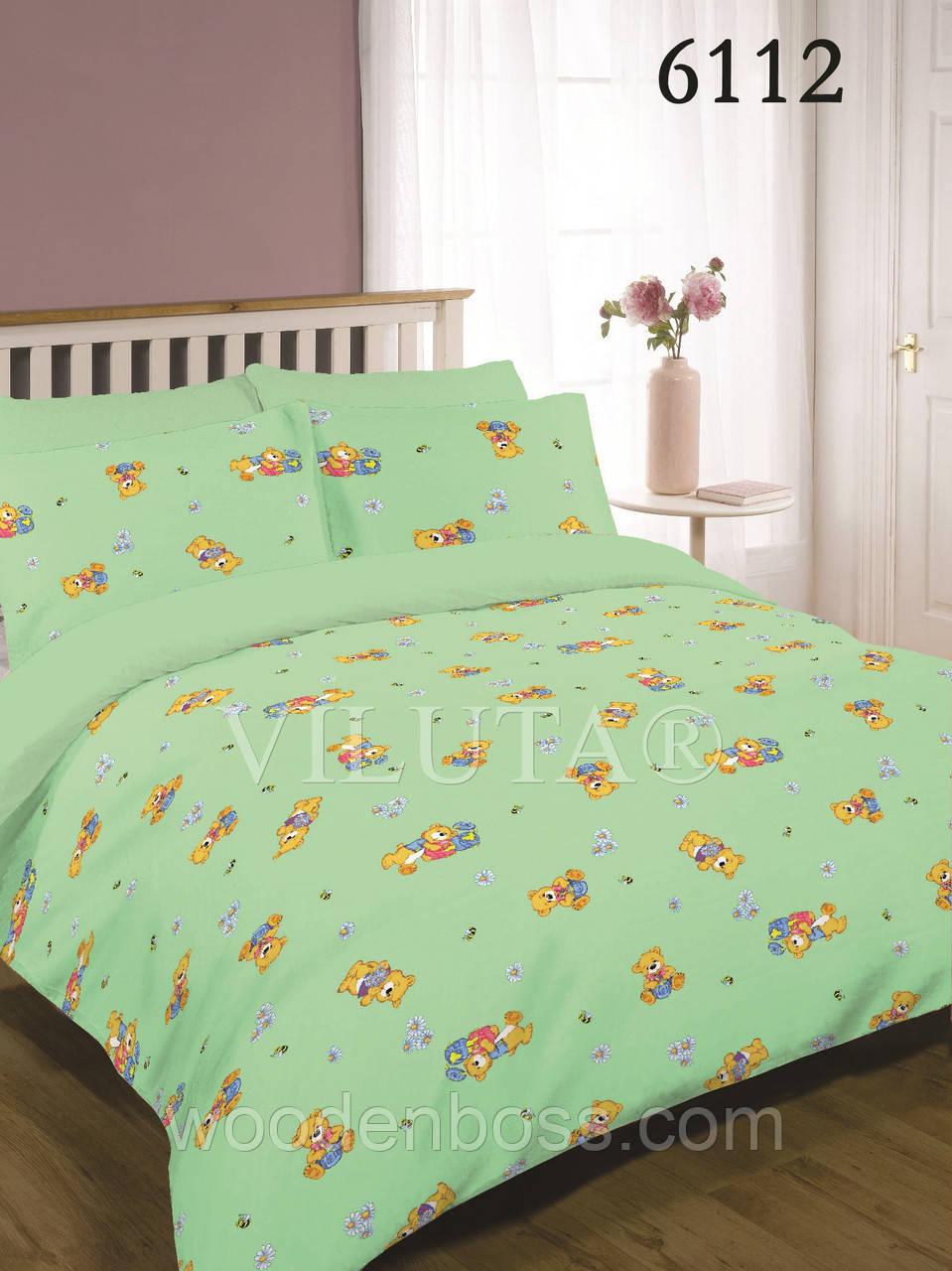 Детский комплект постельного белья 6112 зеленый