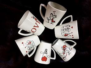 Чашка ко дню влюбленных в ассортименте