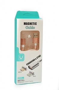 Кабель магнитный 2 в 1 Micro/iPhone5/6 1 м ТКАНЬ