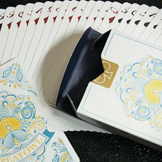 Карты игральные | Peafowl Deck (Snow White) by Aloy Studios
