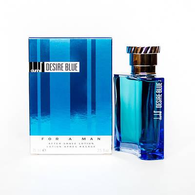 Чоловічий лосьйон після гоління ALFRED DUNHILL Desire Blue 75ml, зелений фужерний аромат з нотою цитрус ОРИГІНАЛ