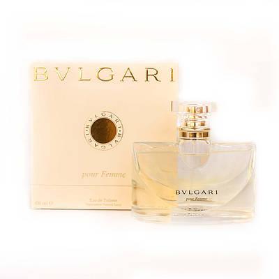 Елітні жіночі парфуми BVLGARI Pour Femme туалетна вода 100ml, ніжний квітковий пудровий аромат ОРИГІНАЛ