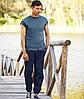 Мужские спортивные штаны с резинкой снизу, фото 3
