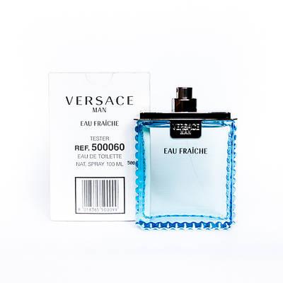 Версаче чоловічі блакитні VERSACE Man Eau Fraiche 100мл ТЕСТЕР річний свіжий деревно-цитрусовий ОРИГІНАЛ