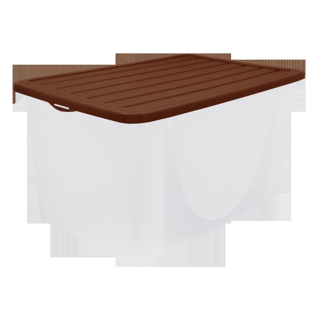 Пластиковий ящик для зберігання речей з кришкою, (40л),  Алеана