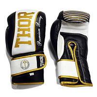Перчатки для бокса кожаные THOR THUNDER (Leather) BLK